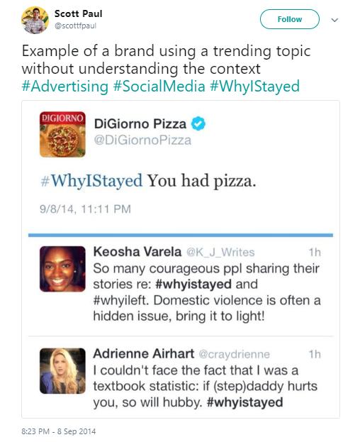 Wrong trending topic