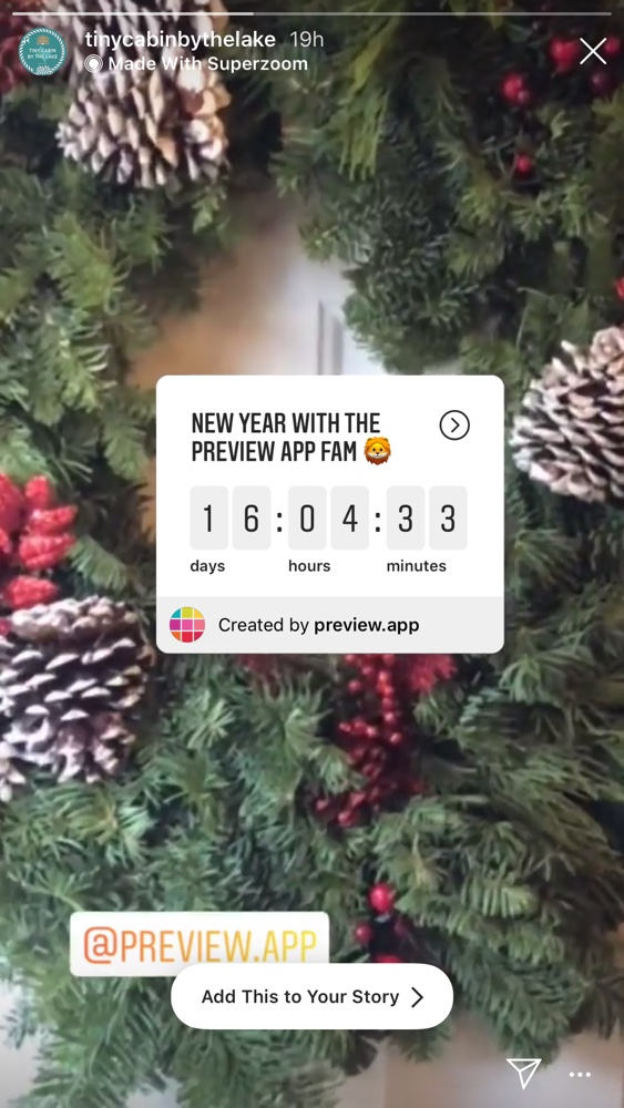 Instagram Countdown Sticker Feature